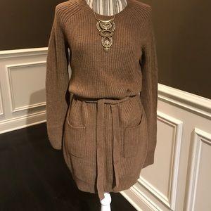 BCBGMaxAzria Camel Sweater Dress
